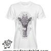 0229 mandala giraffe tshirt bianca uomo