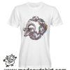 0231 goat skeleton tshirt bianca uomo