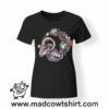 0231 goat skeleton tshirt nera donna