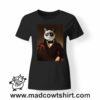 0232 funny cat paint tshirt nera donna