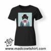 0234 funny monkey paint tshirt nera donna