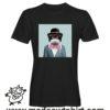 0234 funny monkey paint tshirt nera uomo