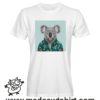 0235 funny koala paint tshirt bianca uomo