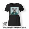 0235 funny koala paint tshirt nera donna