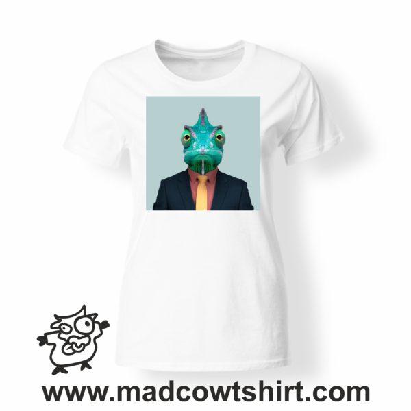 000236 funny chamaleon paint T-shirt Uomo Donna Bambino 3