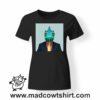 0236 funny chamaleon paint tshirt nera donna