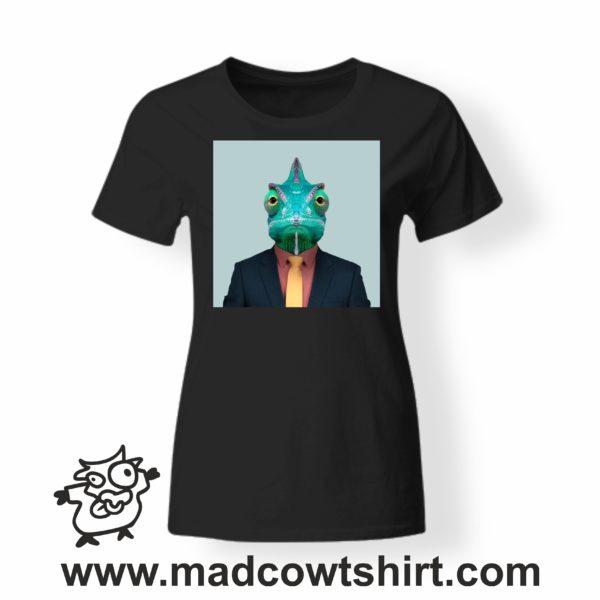 000236 funny chamaleon paint T-shirt Uomo Donna Bambino 4