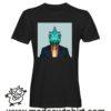 0236 funny chamaleon paint tshirt nera uomo
