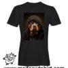 0238 funny rottweiler paint tshirt nera uomo