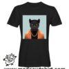 0240 funny panter paint tshirt nera uomo