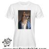 0241 funny shiba paint tshirt bianca uomo