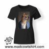 0241 funny shiba paint tshirt nera donna