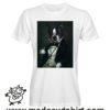 0243 funny french bulldog paint tshirt bianca uomo