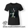 0243 funny french bulldog paint tshirt nera donna