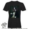 000244 funny monocle french bulldog paint T-shirt Uomo Donna Bambino 7