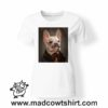 0244 funny monocle french bulldog paint tshirt bianca donna