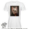 000244 funny monocle french bulldog paint T-shirt Uomo Donna Bambino 5
