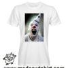 0245 horror clow tshirt bianca uomo