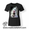 0245 horror clow tshirt nera donna