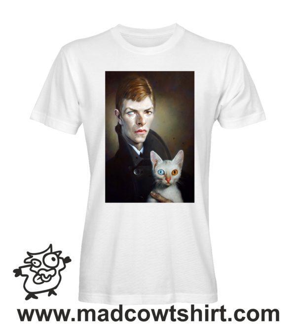 000246 david bowie cat T-shirt Man Woman Child 1