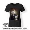0246 david bowie cat tshirt nera donna