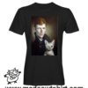 0246 david bowie cat tshirt nera uomo
