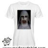 0247 horror nun tshirt bianca uomo