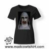 0247 horror nun tshirt nera donna