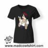 0252 snow white punk tshirt nera donna