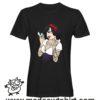 0252 snow white punk tshirt nera uomo