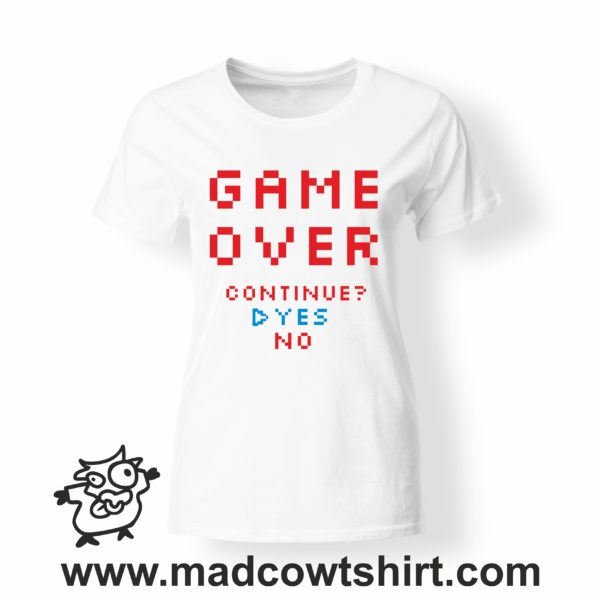 000253 game over T-shirt Man Woman Child 4