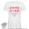 0253 game over tshirt bianca uomo