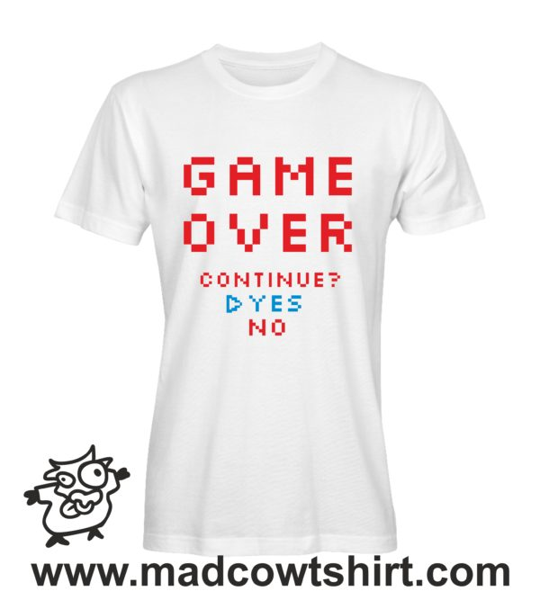 000253 game over T-shirt Man Woman Child 2