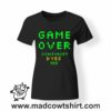 0253 game over tshirt nera donna