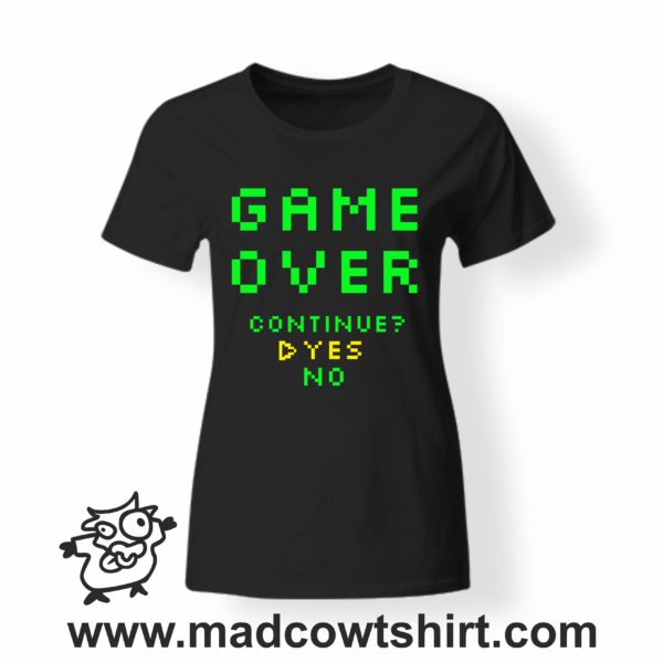 000253 game over T-shirt Man Woman Child 3