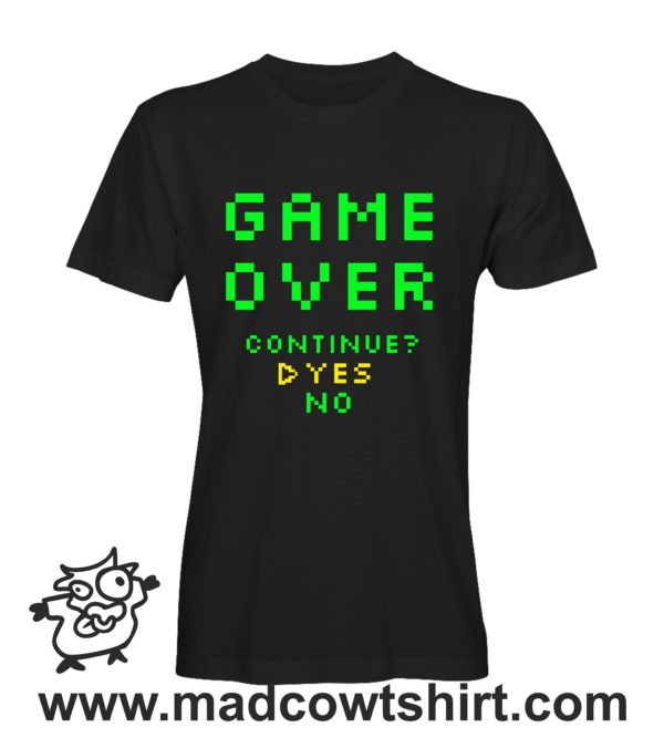 000253 game over T-shirt Man Woman Child 1