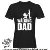 0254 the walking dad tshirt nera uomo