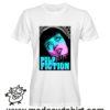0263 pulp fiction tshirt bianca uomo