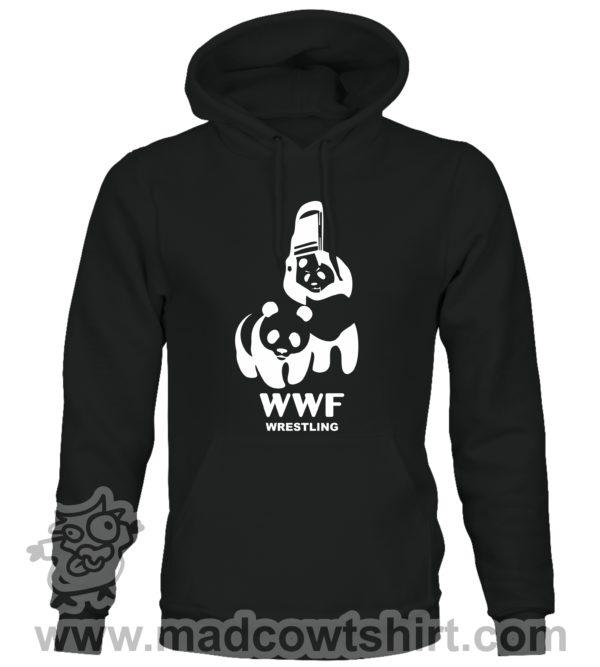 000351 wwf wrestling Felpa unisex senza o con cappuccio 1
