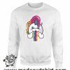 000358 raibow unicorn Unisex Sweatshirt or Hoodie 6