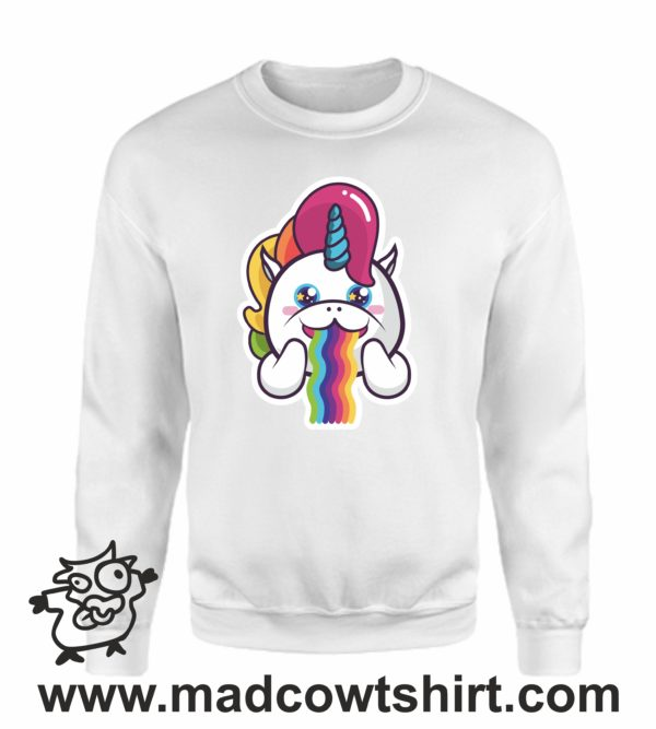 000358 raibow unicorn Unisex Sweatshirt or Hoodie 3