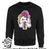 000358 raibow unicorn Unisex Sweatshirt or Hoodie 7