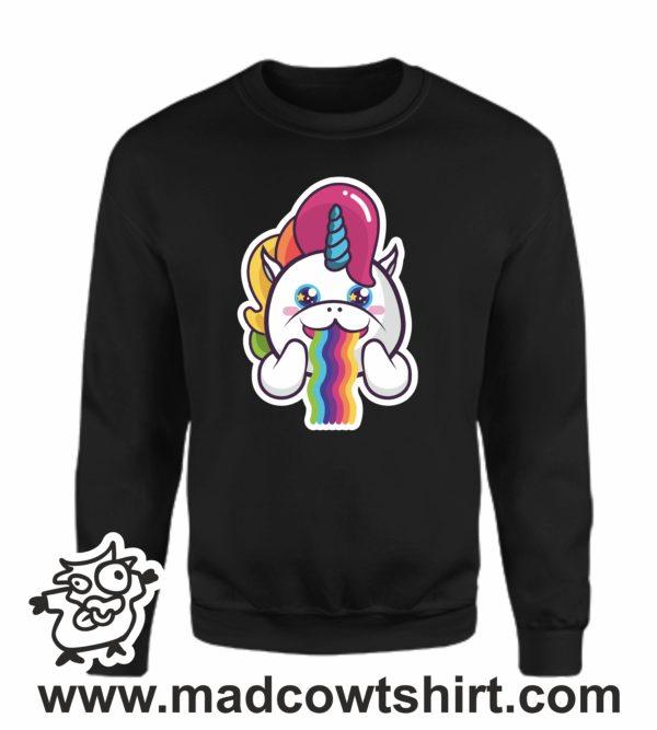 000358 raibow unicorn Unisex Sweatshirt or Hoodie 4