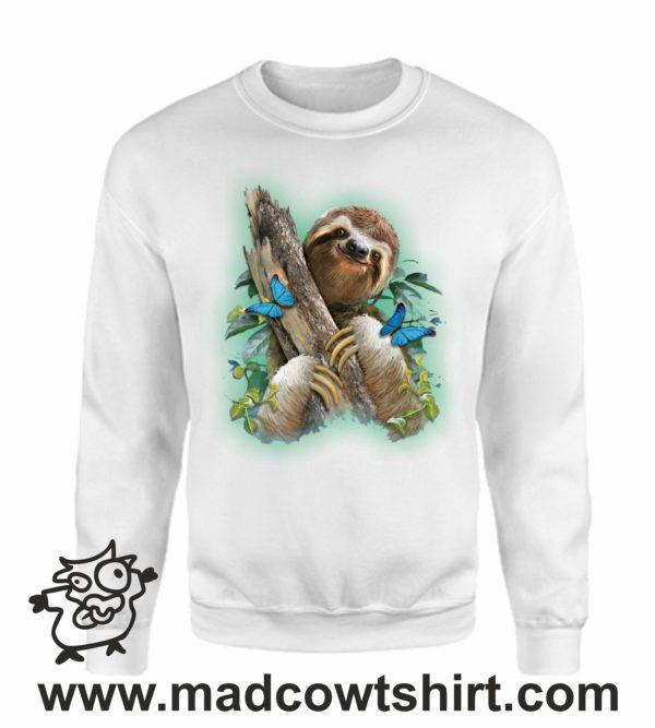 000367 funny sloth Felpa unisex senza o con cappuccio 4