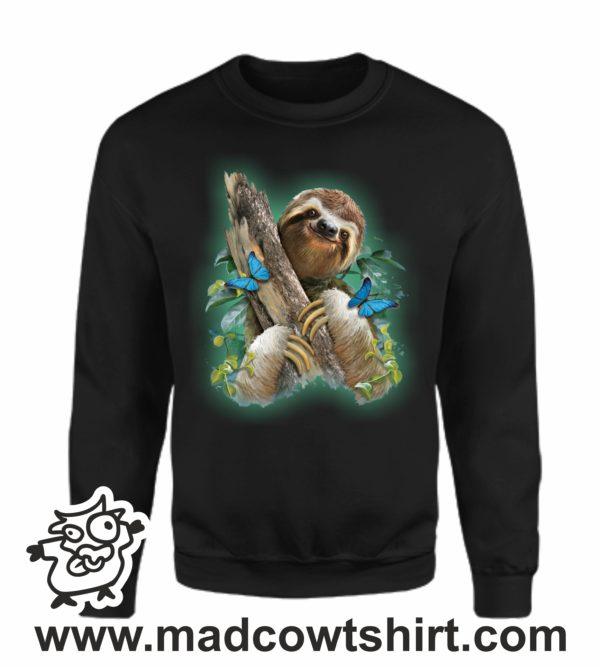 000367 funny sloth Felpa unisex senza o con cappuccio 3