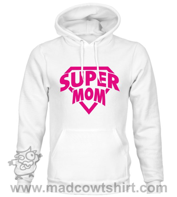000371 super mom Felpa unisex senza o con cappuccio 2