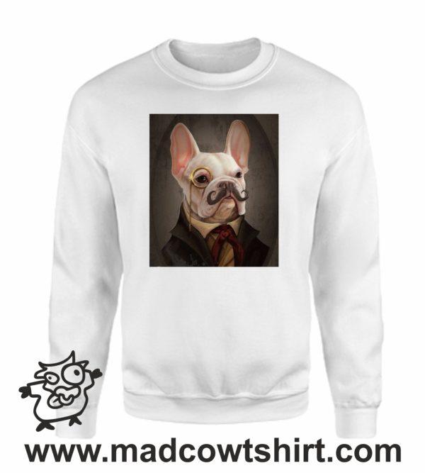 000373 funny monocle french bulldog Unisex Sweatshirt or Hoodie 4
