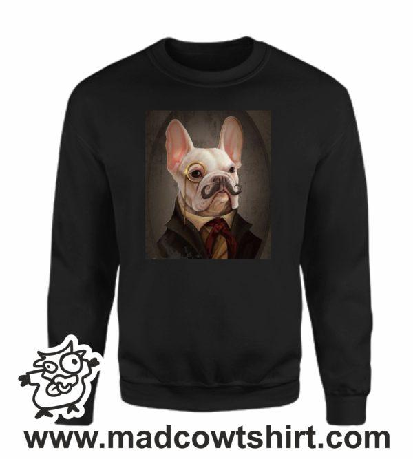 000373 funny monocle french bulldog Unisex Sweatshirt or Hoodie 3