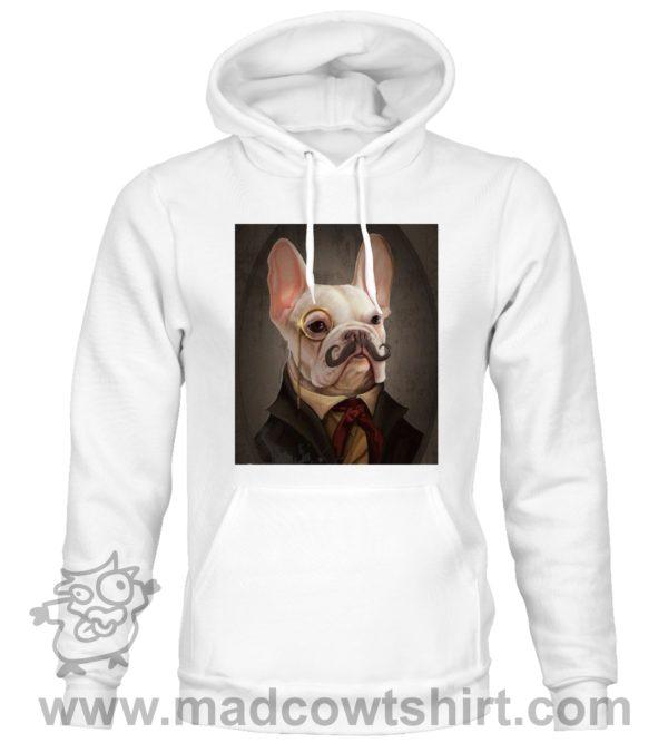 000373 funny monocle french bulldog Unisex Sweatshirt or Hoodie 2