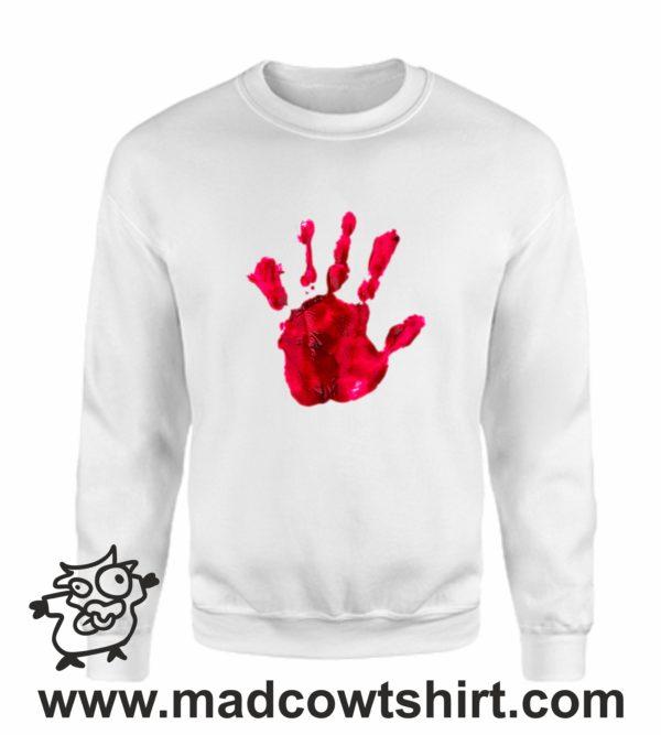 000377 blood hand Unisex Sweatshirt or Hoodie 4